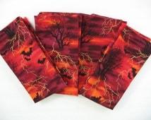 Halloween napkins set of 4 cloth napkins 16 inch for Halloween cloth napkins