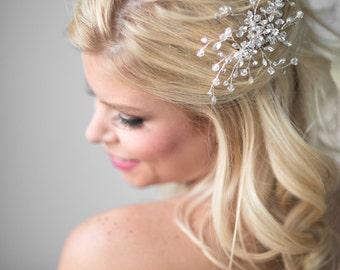 Crystal Bridal Comb, Wedding Hair Comb, Bridal Hair Comb, Wedding Hair Vine Comb, Crystal Hair Comb