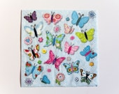 Butterfly Napkin, Paper Napkin for Decoupage, Craft Napkin, Scrapbooking Napkin, Decoupage Paper Tissue, Butterfly Decoupage