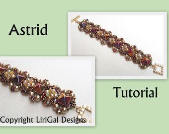 Tutorial Astrid SuperDuo and Pyramid beads  Beadwork Bracelet PDF