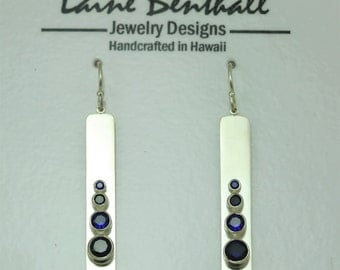 4 Stone Sequence Earring (Sapphire) made to order