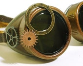 Steampunk Goggles with optical gear enhancements
