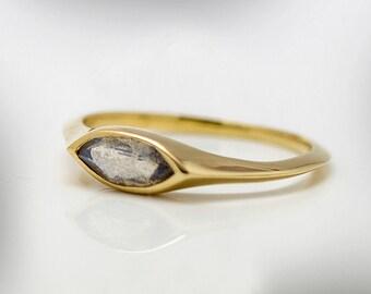 Labradorite Gold Ring, Birthstone Ring, Gemstone Jewelry, Gemstone Ring, FREE SHIPPING
