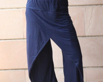 Blue Color Harem pants Overlap Casual Wear Gypsy Style