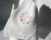 HANDKERCHIEF - Wedding Gift - Personalize Grandma Mother Aunt - Thank you Irish Linen