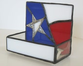 Stained Glass Business Card Holder - Texas Flag