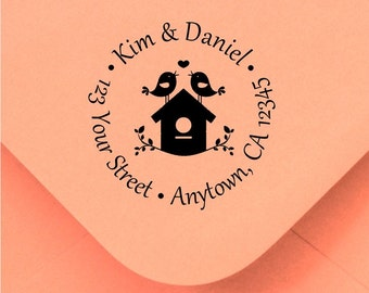 Personalized Custom Made Return Address and Name Rubber Stamps R215