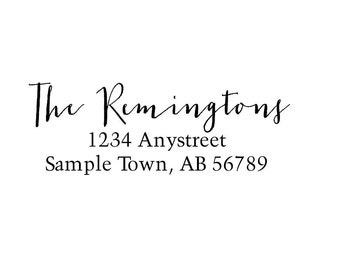 Personalized Self Inking Return Address Stamp - self inking address stamp - Custom Rubber Stamp R223