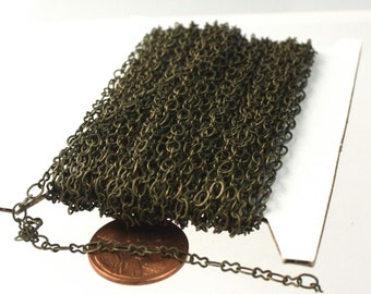 NEW 10 ft spool of Antique Brass SOLDERED Figure 8 Connector Chain - 3.9x2.7mm links