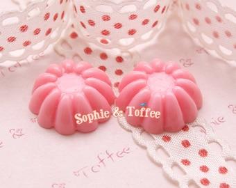 Pink Pudding Miniature Sweets Deco Resin Cabochon - 10pcs
