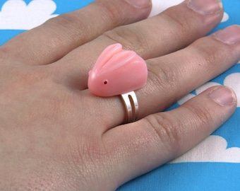 Pink Sugar Bunny Ring Adjustable