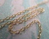 Gold Fill Chain,, 10 feet, 1.4 mm Flat Cable Chain, 14k Gold Fill Chain, 15-25 Percent Less, bulk chain sgf1 tgc