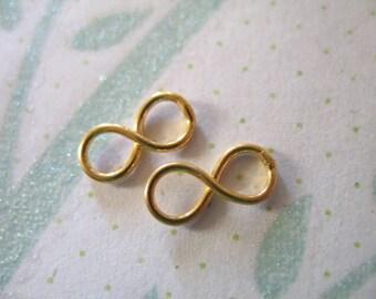 Shop Sale..2 pcs, INFINITY Pendant Charm Link Connector, 24k Gold Vermeil, 11x5.25 mm, Small, brides bridal jjj n34p art