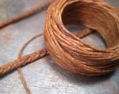 favorite beeswaxed linen cord (25 yards) light brown
