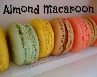 ALMOND MACAROON Scented Soy Wax Melts - Wickless Candle - Soy Tarts - Highly Scented - Hand Poured & Made In USA