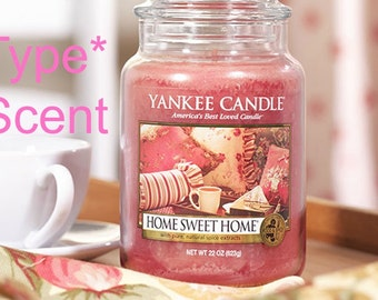 HoME SWEET HoME Scented Soy Wax Melts - Handmade Soy Wax Tarts - YC Candle Type* Scent - Hand Poured - Highly Scented - Made In USA
