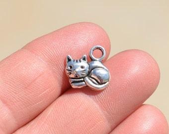 1 Silver Cat Charm SC1520