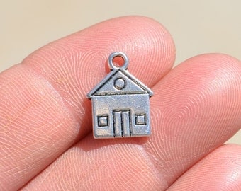 10 Silver House Charms SC2095
