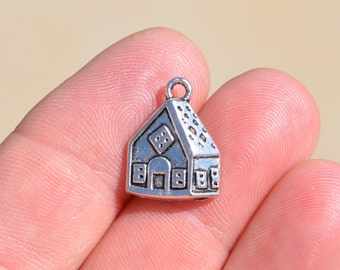 10 Silver House Charms SC2272