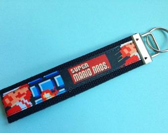 Super Mario Bros Keychain Wristlet