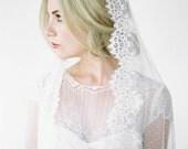 ESMA Spotted Mantilla Wedding Veil, Mantilla Veil