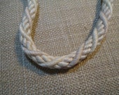 T-190 DISCOUNT UPHOLSTERY Cord Houles France Quality Remnant - Ivory - Oatmeal