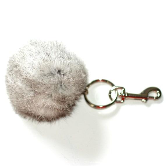 porte clef clip pour sac a en fourrure de par petallecreations