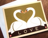 Swans Love Note Card