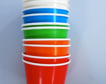 Rainbow Ice Cream Cups or Treat Cups 10 Frozen yogurt cups, sundae cups
