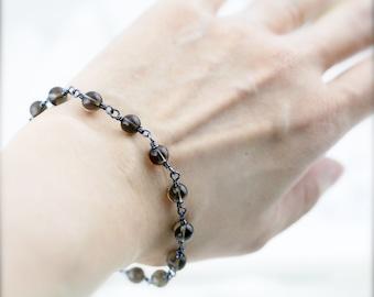 Comforting bracelet -  smoky quartz