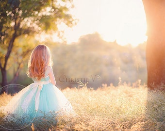 Seafoam Flower Girl Tutu Dress