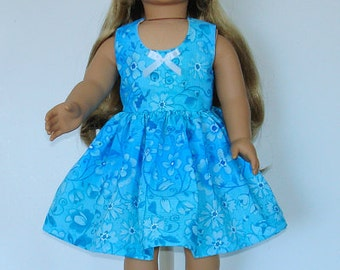 Summer dress designed for American Girl 18 inch doll   No. 585
