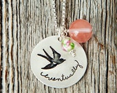 Infertility Bird Necklace