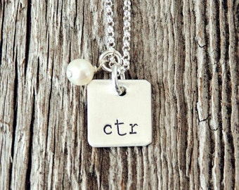 CTR Necklace, Choose the right Jewelry, Christian Necklace, Baptism Necklace, First Communion Gifts