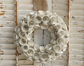 "9 ""  Book Wreath / Paper Rose Wreath / Book Lover Decor / Romantic  Wedding Decor"
