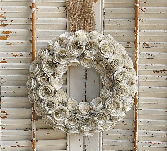 book paper wreath