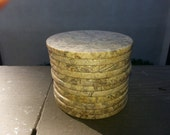 Vintage Marbelized Coasters Home Wares Decorative Stone, Reserved for Roxann
