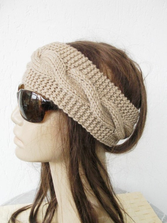 Hippie Headband Knitting Pattern : Knitting PATTERN PDF Digital Headband Pattern Instant ...