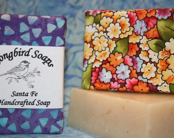 Soothing Vanilla Almond Oatmeal Vegan Soap Bar  Palm Oil Free