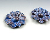 Enameled Daisy / Nitric Blue Enamel / Made to Order