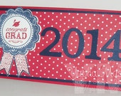 Graduation Card with Envelope - Money or Check Holder - Customize Grad Year & Colors