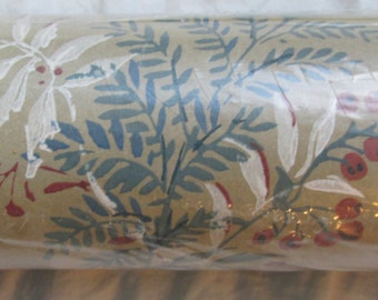Vintage wallpaper botanical 1 double roll 70 sq ft York prepasted wall covering