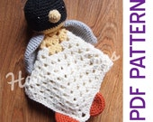 Amigurumi Penguin Security Blanket Lovey PDF Crochet Pattern