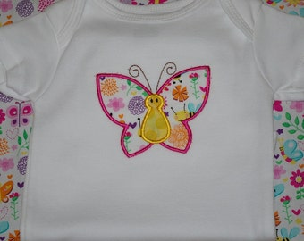 Adorable butterfly onesie, custom, made to order