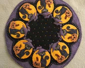Spooky Halloween Penny Rug/Candle Mat DIGITAL PATTERN