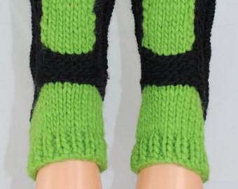 Instant Digital File pdf download knitting pattern - Childrens Superfast Sock Slippers
