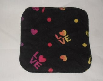 6 Love  flannel wipes