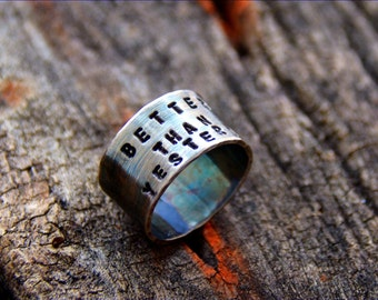 Sterling Ring Custom Saying Handmade Wild Prairie Silver Jewelry