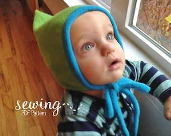Pilot & Pixie Caps- PDF Sewing Pattern - Newborn to Child Small