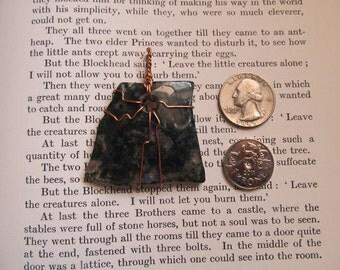 Item 2288 Aventurine Copper Wire Wrapped Pendant Necklace